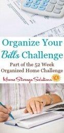 How To Organize Bills