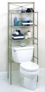 over toilet storage shelves