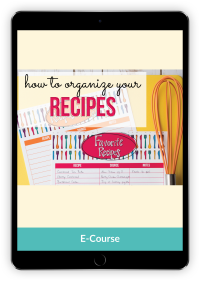 How to organize all your recipes for easy meal planning