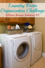 laundry room organization challenge
