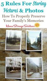 5 rules for storing pictures and photos to properly preserve your family's memories