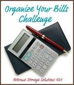 organize bills challenge