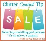 clutter control tips