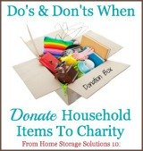do's and don'ts when donate household items to charity