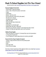 printable back to school supplies list for your home