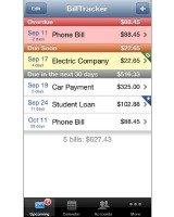 BillTracker app screen shot