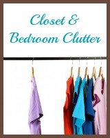 closet and bedroom clutter