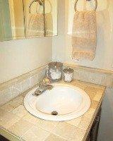 clear bathroom sink