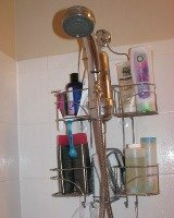 shower and bathtub clutter