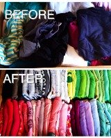 how to fold t-shirts to organize shirt drawer