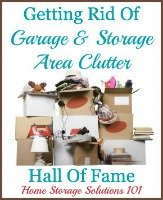 getting rid of storage area and garage clutter hall of fame