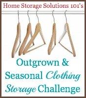 clothing storage challenge