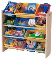 toy storage bookshelf Living Room Organization