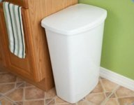 lift top kitchen garbage can