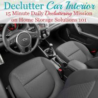 declutter car interior mission