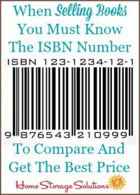 when selling books you must know the ISBN number
