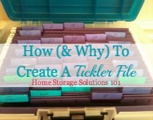 how and why to create a tickler file