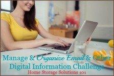 manage & organize email & other digital information challenge
