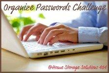 organize passwords, warranties and manuals challenge