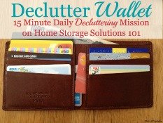 declutter your wallet mission