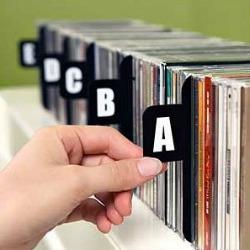 alphabetical cd dividers