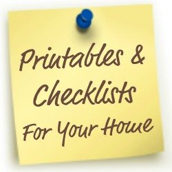printables and checklists for your home