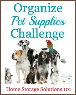organize pet supplies challenge