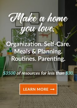 The Ultimate Homemaking Bundle has over 129 resources to help you improve your home and life, including printables, eBooks and eCourses that is worth more than $3,500, but for over 98% off, but it's only available for a limited time {more information on Home Storage Solutions 101}