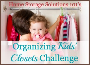 organizing kids' closet