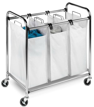 honey do triple laundry sorter create a laundry schedule