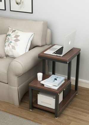 Side table for living room, for storage of books or other reading materials {featured on Home Storage Solutions 101}