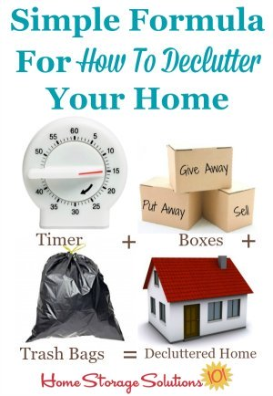 Step by step instructions for how to #declutter any spot in your home {on Home Storage Solutions 101, home of the #Declutter365 missions} #Decluttering