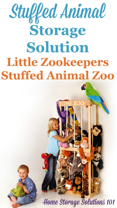 The Little Zookeepers Stuffed Animal Zoo is a simple way to get an already manufactured storage solution for your child's stuffed animals that is both fun and useful {featured on Home Storage Solutions 101}