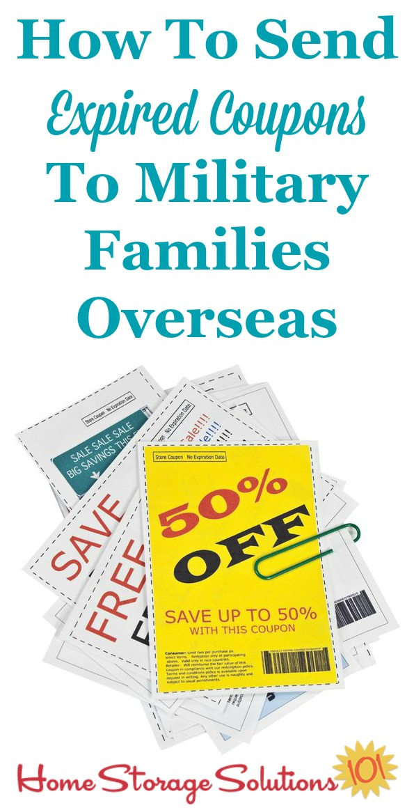 How to send expired coupons to military families overseas, with step by step instructions {on Home Storage Solutions 101} #Couponing #Declutter #Coupons