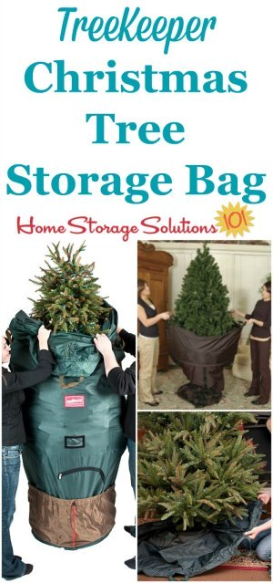 This TreeKeeper artificial Christmas tree storage bag not only keeps your tree clean and beautiful from year to year but is also designed to let you store it without ever having to disassemble it again! {featured on Home Storage Solutions 101} #ChristmasStorage #HolidayStorage #ChristmasTreeStorage