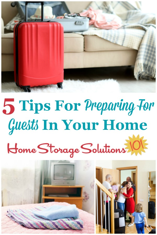 When you're preparing for guests in your home here are five areas to make sure are ready, so your guests feel welcome and at home {on Home Storage Solutions 101} #PreparingForGuests #Hospitality #HolidayGuests