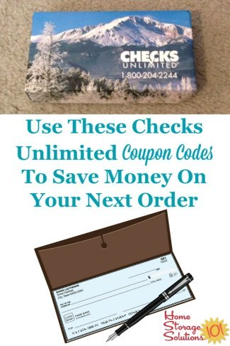 Coupon codes for Checks Unlimited, so you can get the best deal when you order checks online {on Home Storage Solutions 101} #CouponCodes #CouponCode #OrderChecks