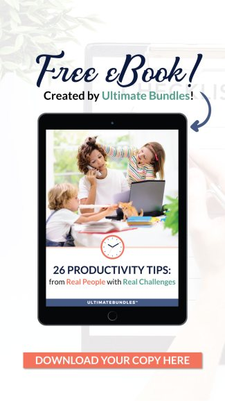 Here's how to get a productivity ebook, called 26 Productivity Tips From Real People With Real Challenges, that will help you free up 1-2 hours a week to do the things you want to do {on Home Storage Solutions 101} #ProductivityTips #ProductivityEbook #Productivity