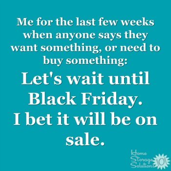 Let's wait until Black Friday. I bet it will be on sale {best Black Friday through Cyber Monday deals, on Home Storage Solutions 101}