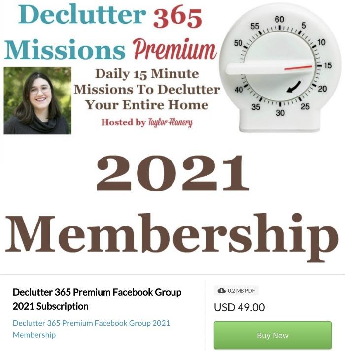 Click here to buy Declutter 365 Premium 2021 Membership