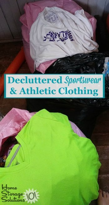 How to declutter sportwear and athletic clothing from your closet {on Home Storage Solutions 101} #DeclutterClothes #DeclutteringClothing #DeclutterCloset