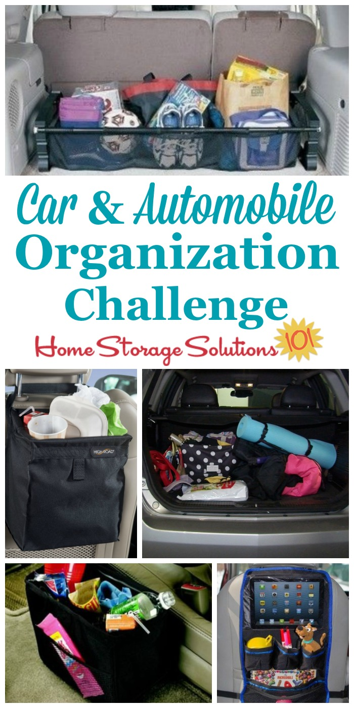 Step by step instructions for car organization so you don't have to be embarrassed to drive anyone around. Includes special tips for organizing your car with kids too! {part of the 52 Week Organized Home Challenge on Home Storage Solutions 101} #CarOrganization #OrganizeCar #CarOrganizer