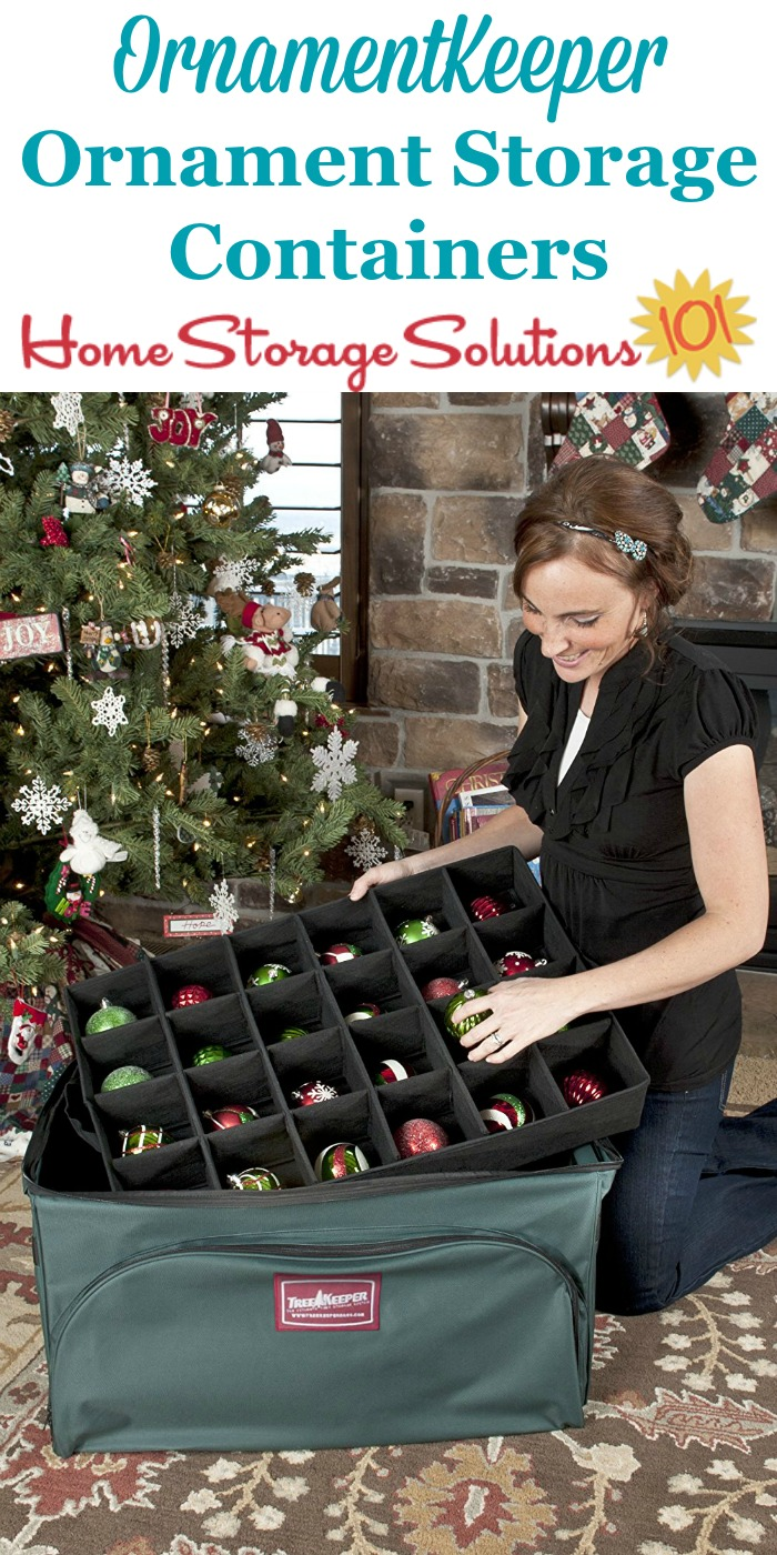 OrnamentKeeper ornament storage containers are the top of the line product for organizing and storing your Christmas decorations for your tree {featured on Home Storage Solutions 101}