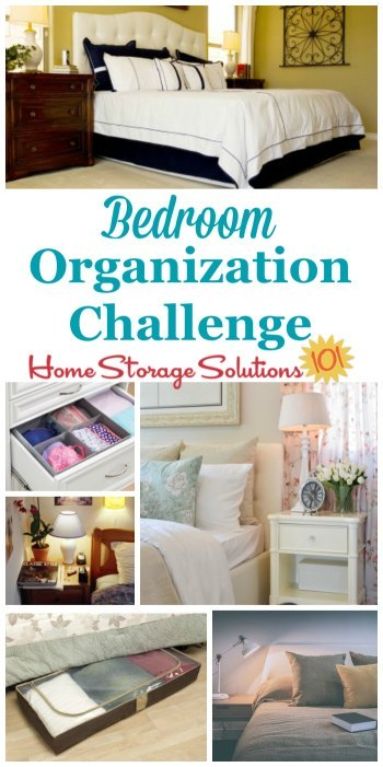 Here are step by step instructions for bedroom organization, including zones to create for your bedroom to make the room both functional and an inviting place to take refuge from the world {part of the 52 Week Organized Home Challenge on Home Storage Solutions 101} #OrganizedHome #BedroomOrganization #OrganizeBedroom