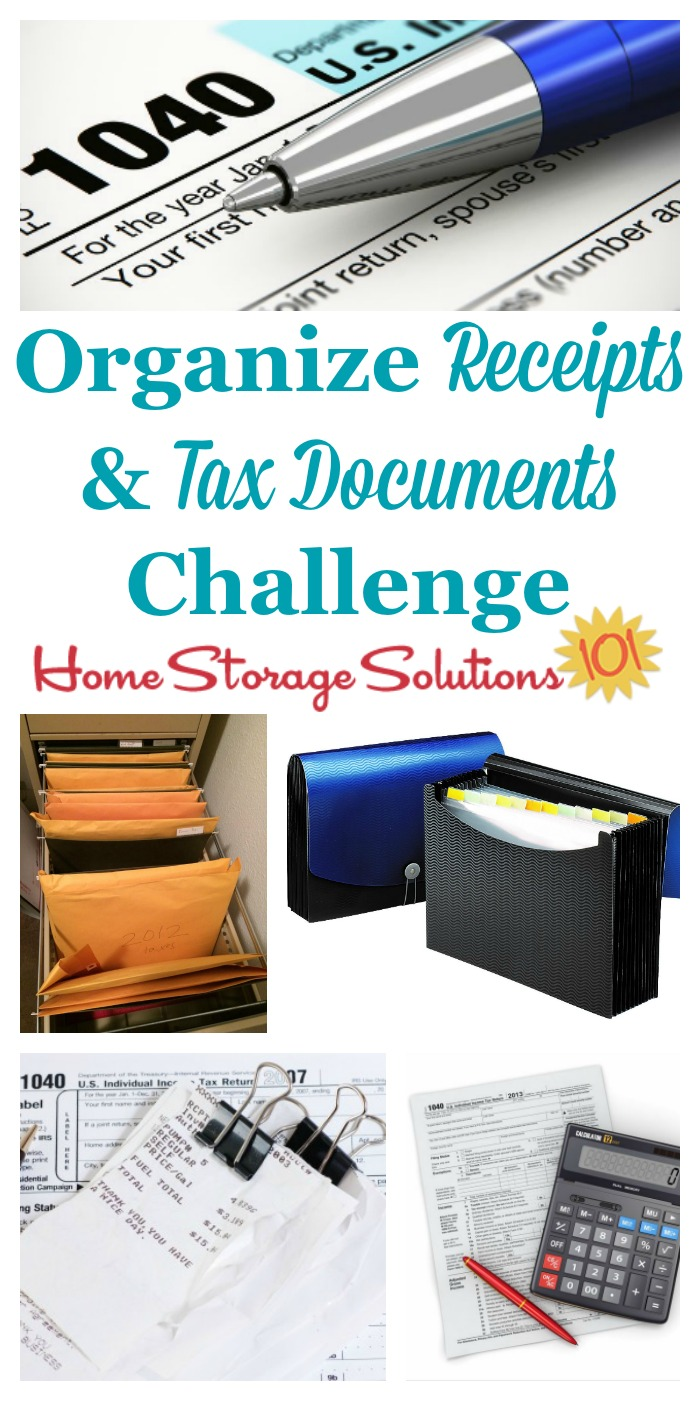 How to organize taxes and receipts, with step by step instructions {part of the 52 Week Organized Home Challenge on Home Storage Solutions 101} #PaperOrganization #OrganizeTaxes #OrganizeReceipts