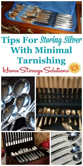 Here are tips to make sure you're storing silver items in your home so they stay as beautiful as possible, with little tarnishing or damage. Here's the steps and instructions for how to do this {on Home Storage Solutions 101}