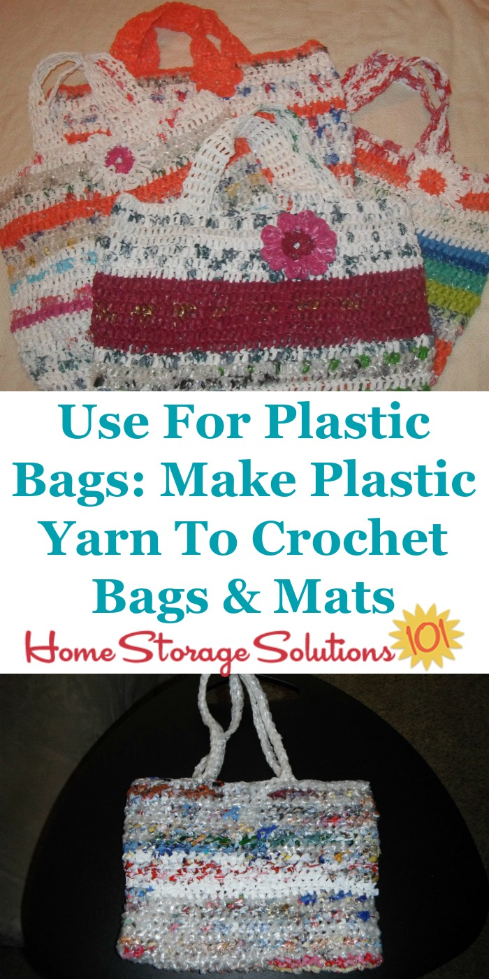 Uses for plastic bags: Make plastic yard to crochet bags and mats {on Home Storage Solutions 101}