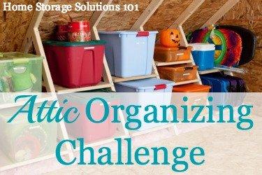attic organizing challenge