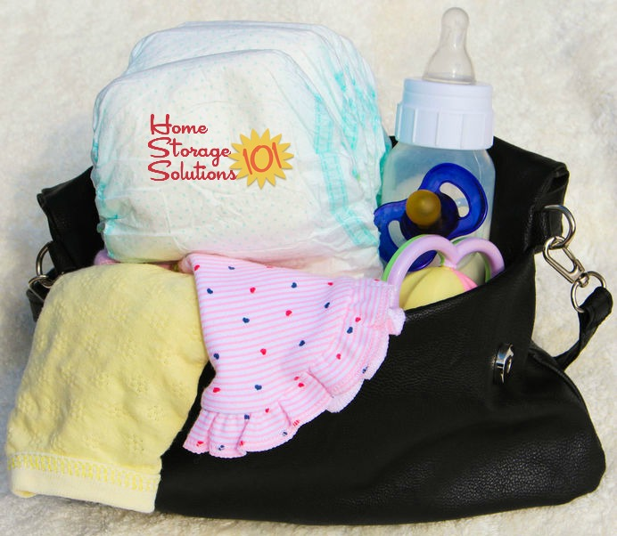 List of items not to forget when decluttering baby gear from your home {on Home Storage Solutions 101}