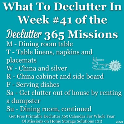 What to declutter in week #41 of the Declutter 365 missions {get a free printable Declutter 365 calendar for a whole year of missions on Home Storage Solutions 101!}